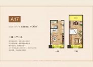 禹州颍川大厦户型图 一居户型图  公寓